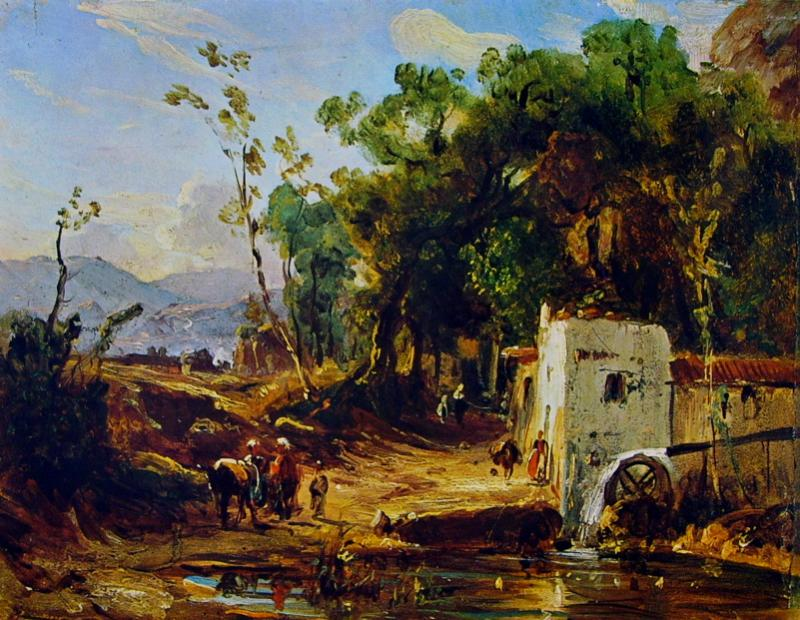 Antonio Pitloo: The Gragnano Mill