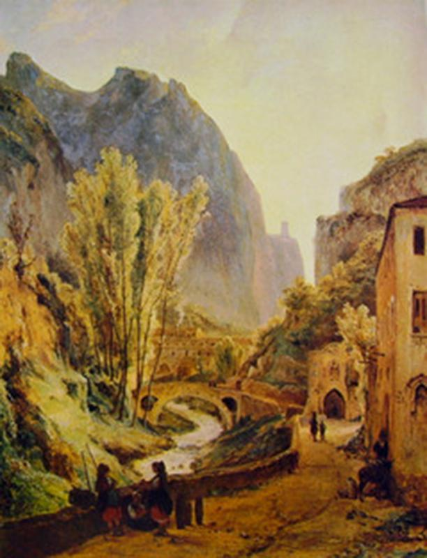 Teodore Duclere: Gragnano and Amalfi Mills' Valley